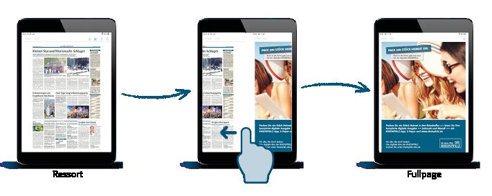 App Werbung Tablet
