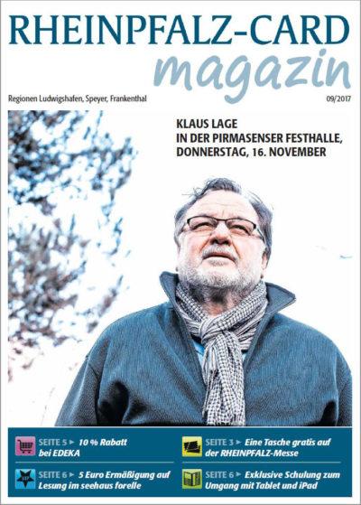 RHEINPFALZ-CARD Magazin Titel