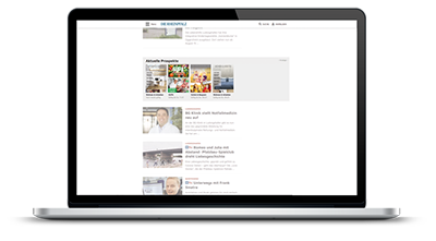 Digitale Prospekte - Laptop Prospektübersicht