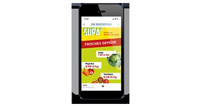 Digitale Prospekte - Smartphone Einzelansicht