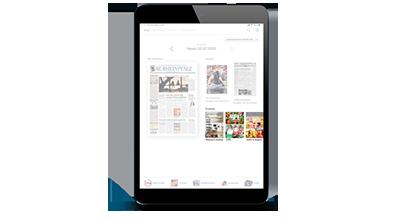 Digitale Prospekte - Tablet Prospektübersicht