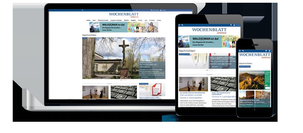 Beispiel Werbebanner Wochenblatt-Homepage